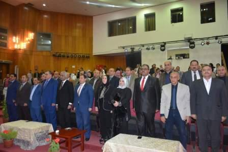 The celebration of the University of Port Said after the liberation of Sinai under the auspices of Prof. / Shams Eddin Shaheen - President of the University