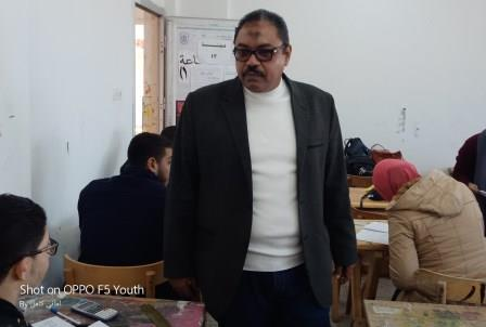 Prof. Dr. Mahmoud Mohaseb - Dean of the college toured the examination committees